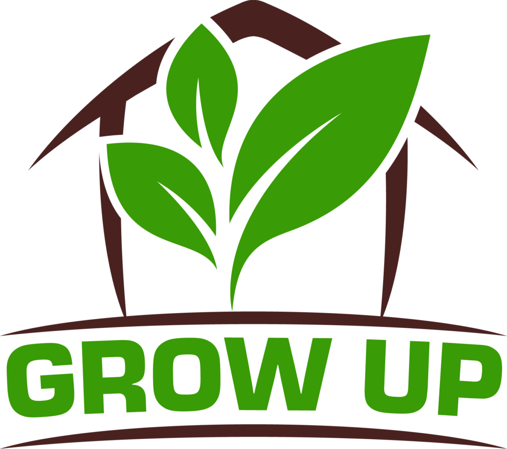 Cette image représente le logo de Grow Up